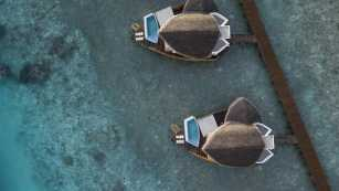 Overwater Pool Villas - Aerial View